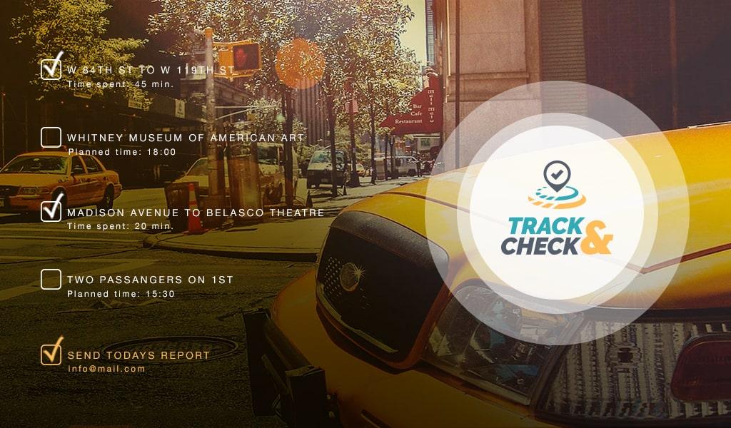 TrackCheck app cover by Mediavuk
