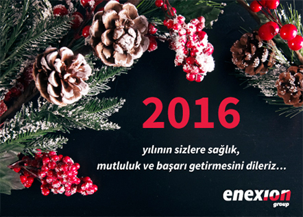 Enexion new year 2016 banner design by Mediavuk