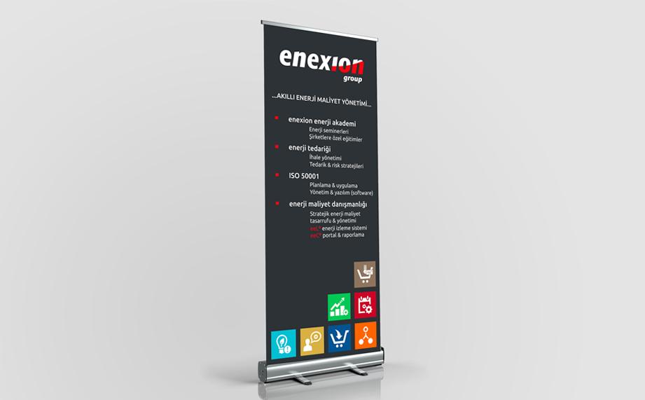 Enexion rollup design by Mediavuk